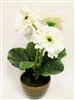 "13"" White Gerbera Silk Flower"