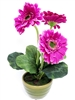 "13"" Purple Gerbera Silk Flower"