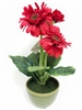 Red Gerbera Silk Flower