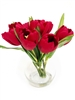 Red Tulip Silk Flower Arrangement