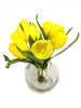 "10"" Tulip Silk Flower Arrangement - Glass Vase"
