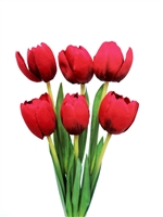 21 inch Silk Red Tulip Flower Bushes