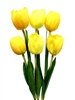 "21"" Yellow Silk Tulip Flower Bush X 6"