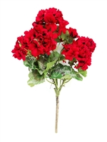 Bright Geranium Silk Flower Bush - Red