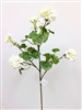 White Silk Geranium Flower Spray