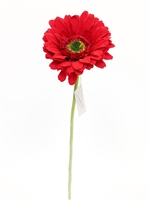 Red gerbera daisy silk flower stem