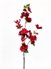 "44"" Silk Dogwood Flower Spray - Red"