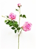 Pink Silk Rose Flower Spray