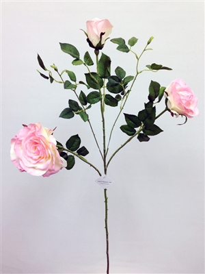 Silk Rose Flower in Light Pink