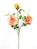 Silk Rose Flower Spray in Peach Color