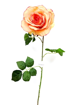 Peach  Silk Rose Flower Stem