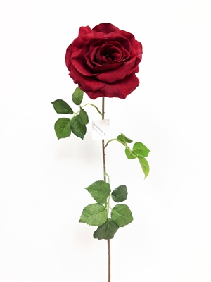 Red Silk Rose Flower Stem