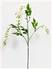 White Wisteria Silk Flower Spray