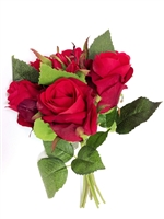 11 Inch Red Rose Silk Bouquet