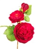 28 inch Red Rose Silk Flower Spray