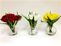 "Tulip Silk Flower Set 3 -10""H"