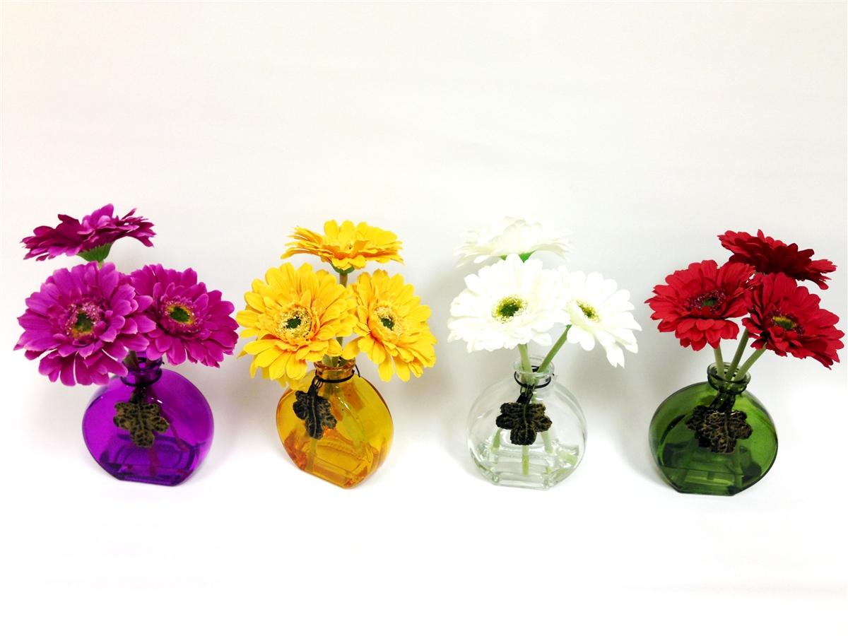 Get Gerbera Daisy Silk Flower 4 Set
