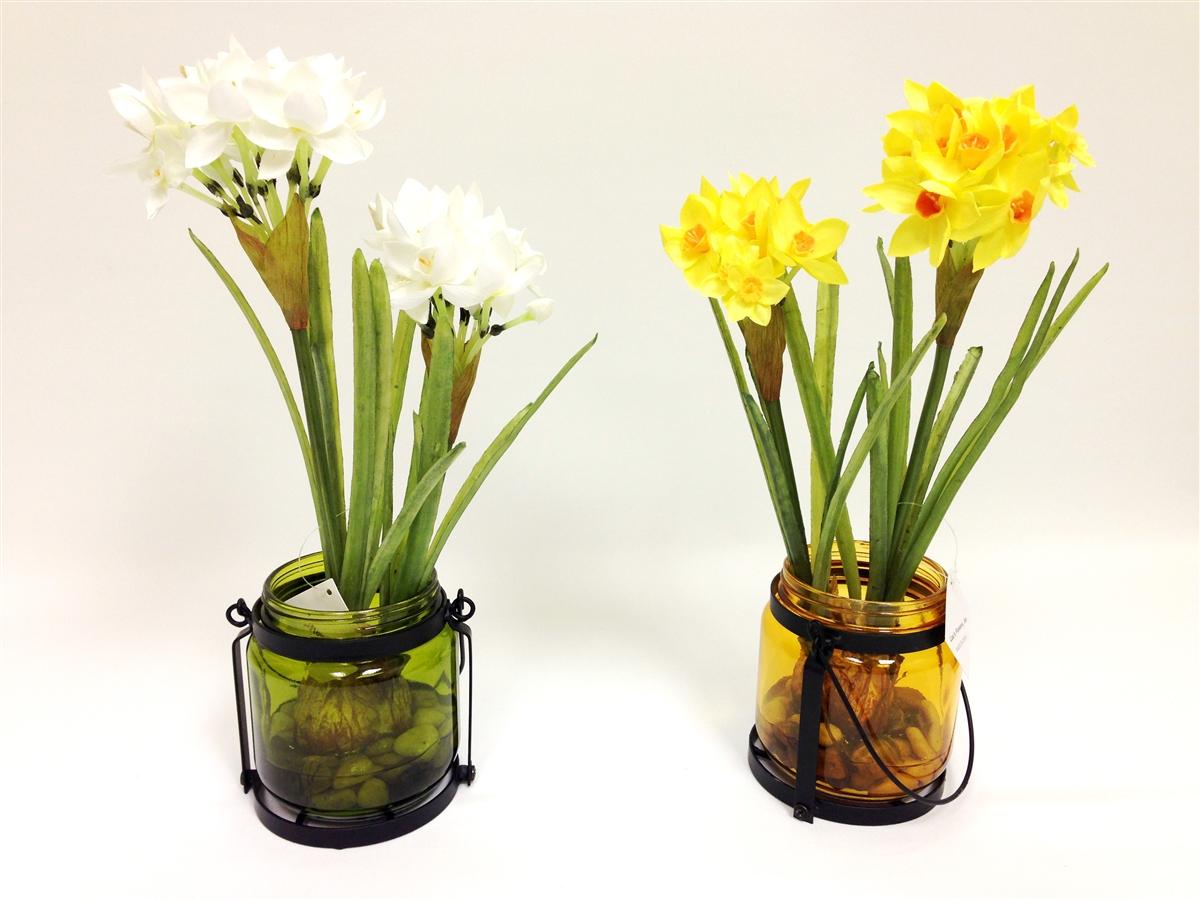 Get Daffodil Silk Flower 2 Set