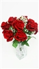 Red Roses Silk Flowers