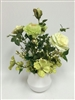 Lovey Green Silk and Real Touch Artificial Flowers Arrangement