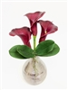"17"" Calla Lily Real Touch Arrangement - Titanium Wine Vase"
