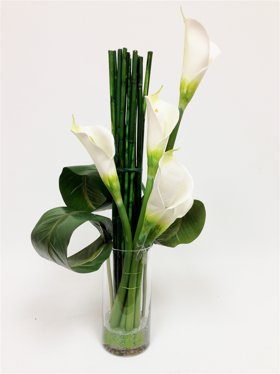 Y Generation Calla Lily Real Touch Arrangement Flower