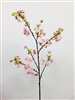 "45"" Fujiyama Silk Light Pink Cherry Blossom Flower Spray"