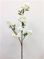 "48"" Lincoln White Silk Cherry Blossom Flower Spray"