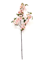 "42"" Japanese Light Pink Silk Cherry Blossom Flower Spray"