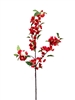 "42"" Japanese Red Silk Cherry Blossom Flower Spray"