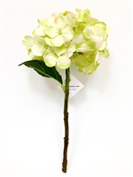 Green Hydrangea Silk Flower Pick