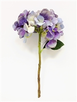 Light Violet Hydrangea Silk Flower Pick
