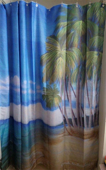Relaxing on the Beach Shower Curtain