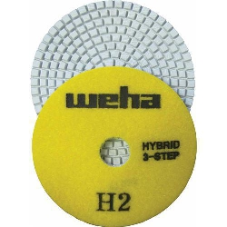 "Part#  13351 4"" Weha 3 STEP Hybrid Step 2 Diamond Polishing Pad Granite Marble Engineered Stone"