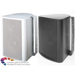 "5-1/4"" Indoor/Outdoor Cabinet Speaker with Poly Woofer (White)"