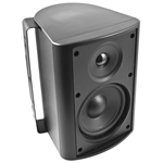 "6-1/2"" Indoor/Outdoor Cabinet Speaker (Black). Woofer made from Genuine DuPont™ Kevlar® Fiber"