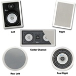 JA Audio Theater Pack for 5.1 Surround Systems w/rear Ceiling