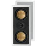 "InwallTech® Pro Gold M525.1LCR 5 1/4"" Dual Aluminum LCR Theater Speakers (Left, Center, Right or Rear)"