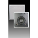 "10"" Dual Channel In-Wall Subwoofer w/ Bezel - Black & White"