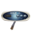 Control Panel, Balboa, Mini Oval, 3 Button (Jet 1, Temp, & Light)