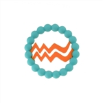 Chewbeads Baby Zodies Teether Refill - Aquarius Turquoise (Pack of 2)