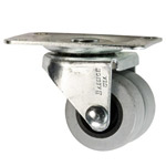 dual wheel low profile caster