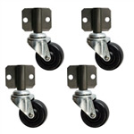 side mount Soft Rubber Tread Furniture Casters