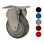 "3-1/2"" Rigid Caster with Polyurethane Tread"