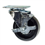 "4"" Caster with Phenolic Wheel and Brake"