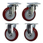 "4"" Swivel and Rigid Caster Set"