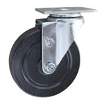 Swivel Caster with Hard Rubber Wheel