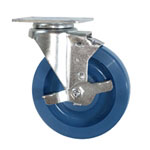 "5""  Swivel Caster with Brake and Polyurethane Wheel"