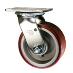 4 Inch Swivel Caster with Polyurethane Tread on Aluminum Core Wheel