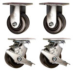 4 Inch Toolbox Caster set with Phenolic Wheels